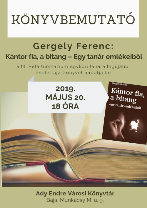 Kántor fia, a bitang - Gergely Ferenc könyvbemutatója